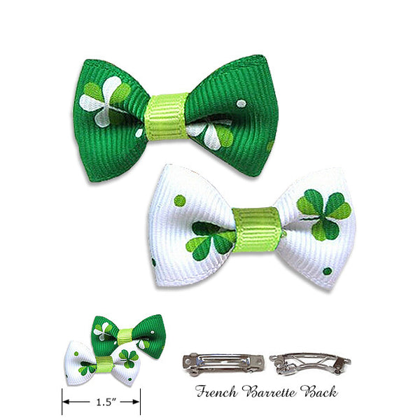Lucky Shamrock Dog Hair Bows, St Pat's Day, Small Dog Mall, Small Dog Mall - Good things for little dogs.  - 2