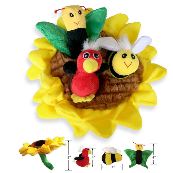 Small Dog Mall, Sunflower Puzzle Small Dog Toy