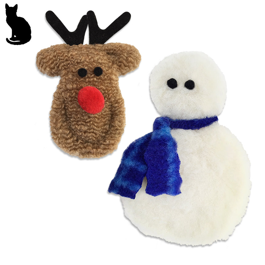 Westpaw Frosty or Rudolph Catnip Cat Toy