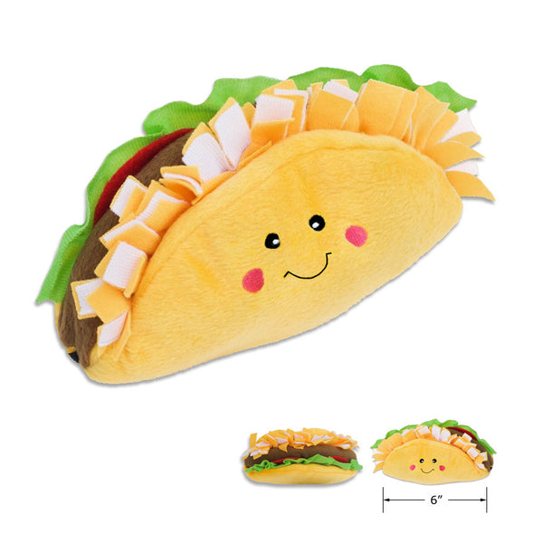 Zippy Paws Plush NomNomz Taco Dog Toy
