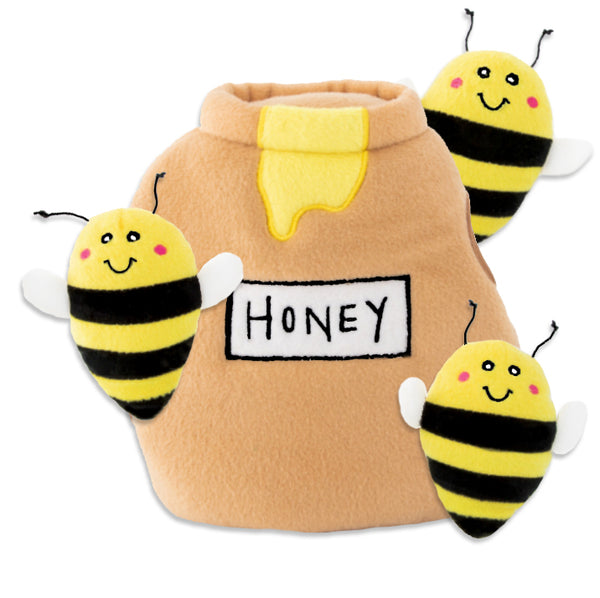 Zippy Paws Bees with Honey Pot Small Dog Toy
