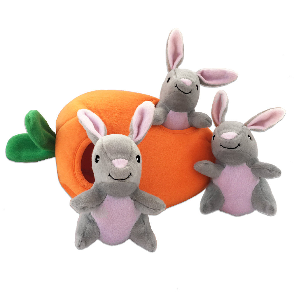 Zippy Paws Burrow Carrot and Bunnies Small Dog Puzzle Toy
