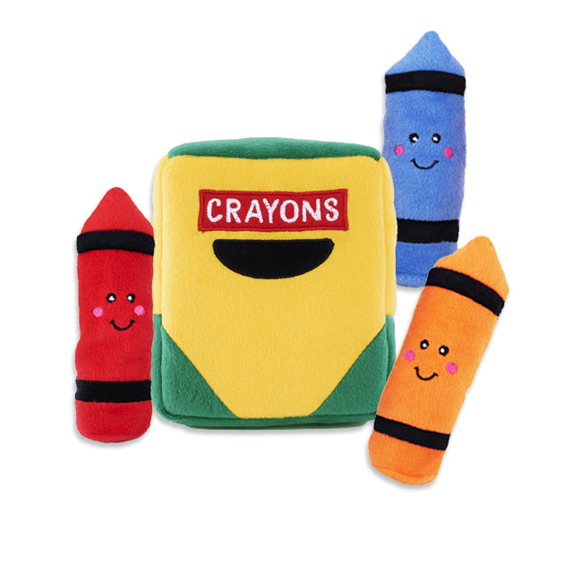 Zippy Paws Pack Of Crayons Small Dog Puzzle Toy