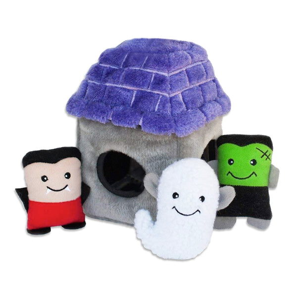 Zippy Paws Haunted House Small Dog Toy