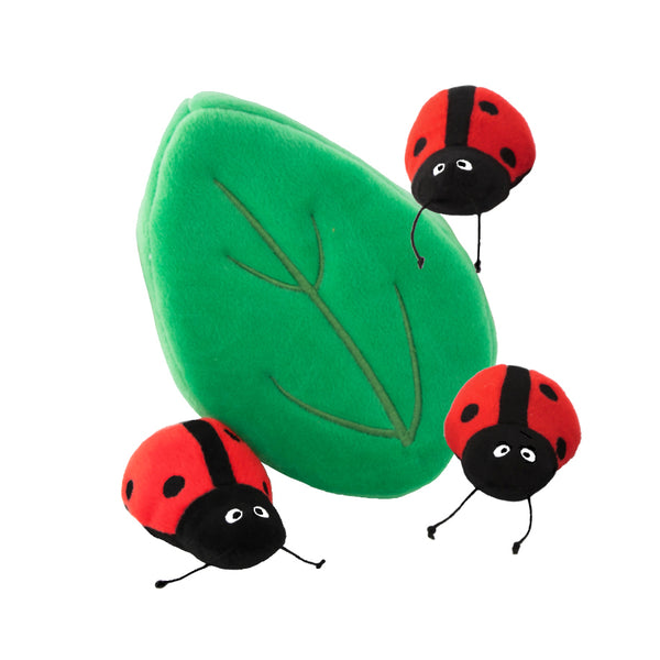 Zippy Paws' Lucky Ladybugs In A Leaf Small Dog Toy