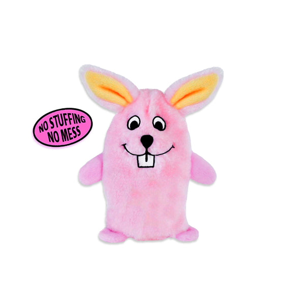 Zippy Paws Cute No Stuffing Pink Bunny Small Dog Toy