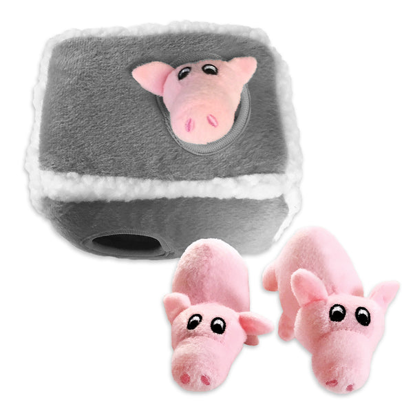 Zippy Paws Burrow Three Little Piggies Small Dog Puzzle Toy
