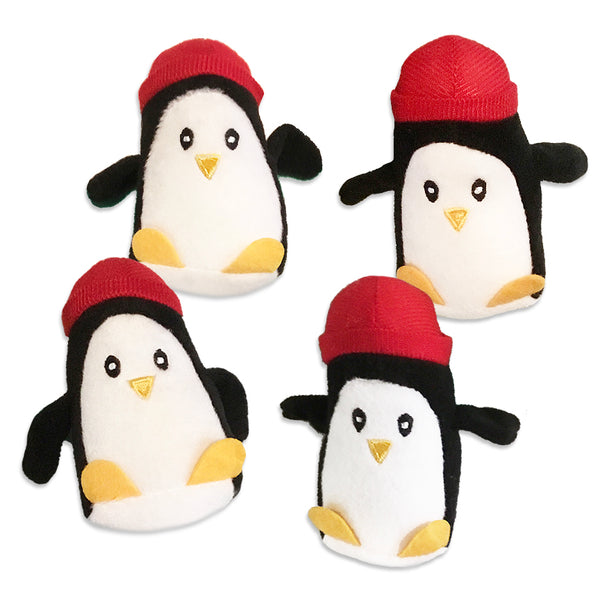 Adorable Mini Penguin Chick in Red Hat Small Dog Toy