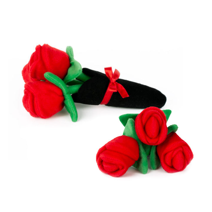 Long-Stemed Red Rose Dog Toy