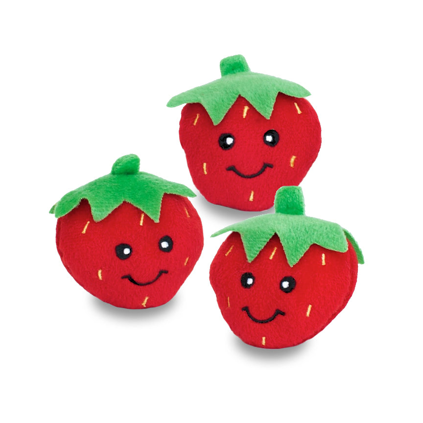 Mini Size Happy Strawberry Dog Toy