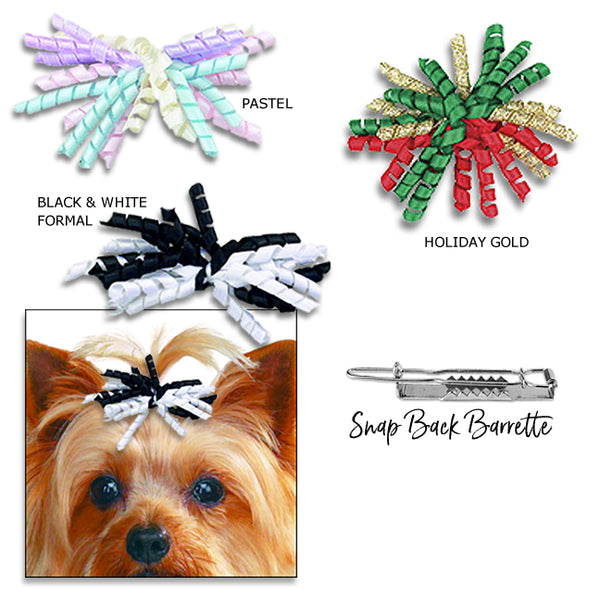 Party Dog Hair Bow Barrette for Small Dogs