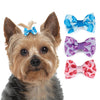 Leopard Print Dog Hair Bow Barrettes, , Hair Accessory, Small Dog Mall, Small Dog Mall - Good things for little dogs.  - 2