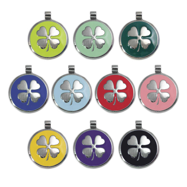 Lucky Shamrock Clover Dog ID Tag for Small Dogs