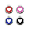 Mini Heart Enamel Small Dog ID Tag