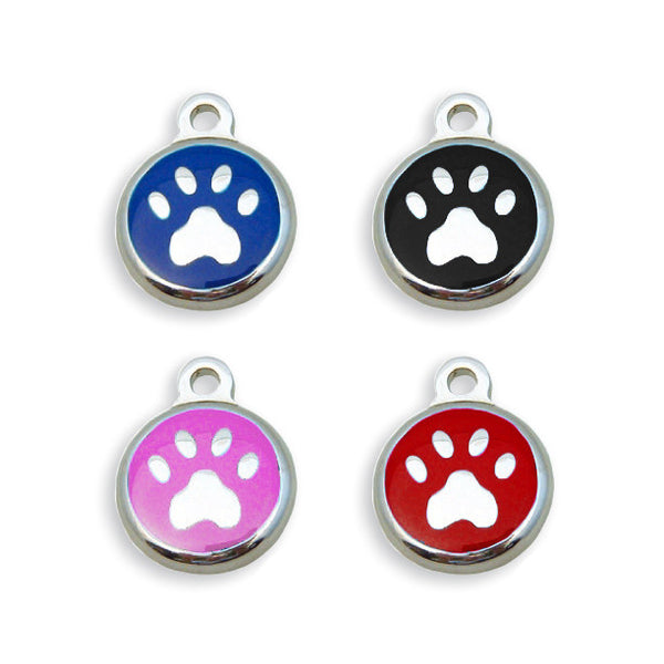 Mini Paw Enamel Small Dog ID Tag