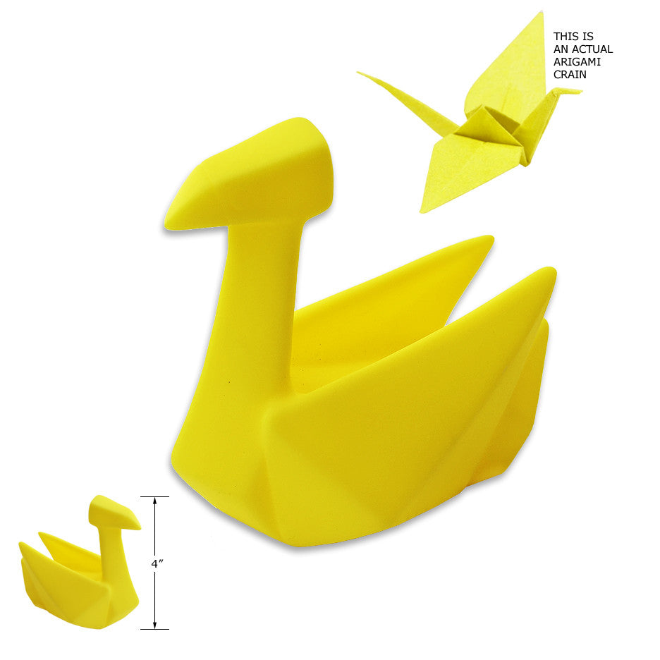 Latex Origami Crane Small Dog Toy