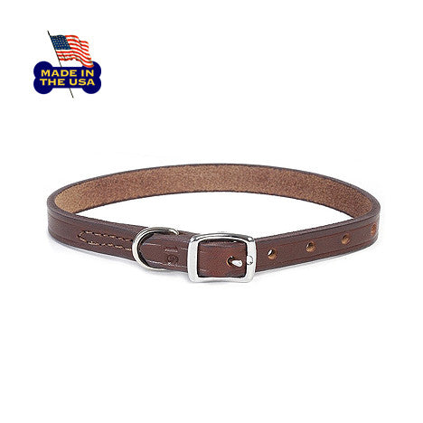 Latigo Leather Dog Collars, , Collar, Small Dog Mall, Small Dog Mall - Good things for little dogs.  - 1