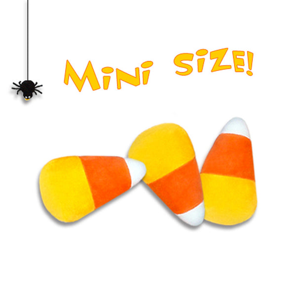 Plush Candy Corn Toy --- Mini Sized for Small Dogs!