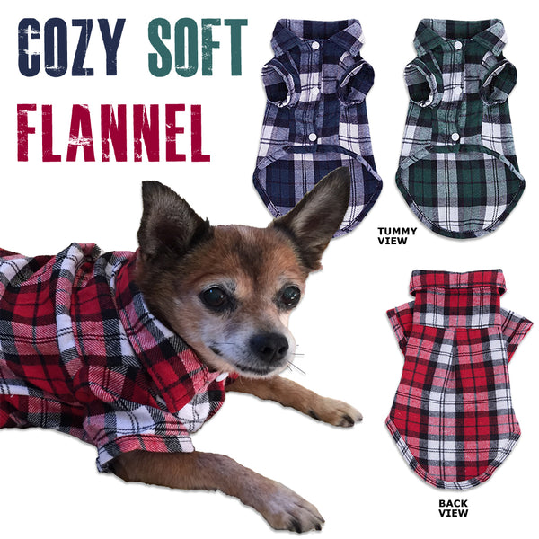 Soft & Cozy Plaid Flannel Small Dog Shirt