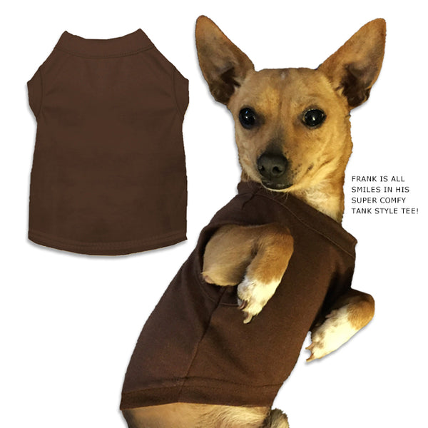 Brown Small Dog Tank Style T-Shirt