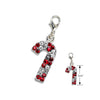 Crystal Candy Cane Small Dog Collar Pendant
