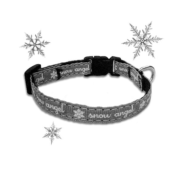Snow Angel Dog Collar for Small Dogs
