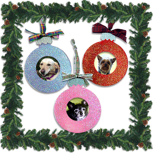 Dog Christmas Tree Ornament Photo Frame Small Dog Mall Good