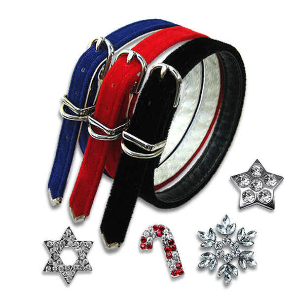 Holiday Velvet Small Dog Collar