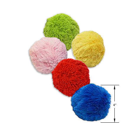 Small Dog Colorful Plush Ball Toy