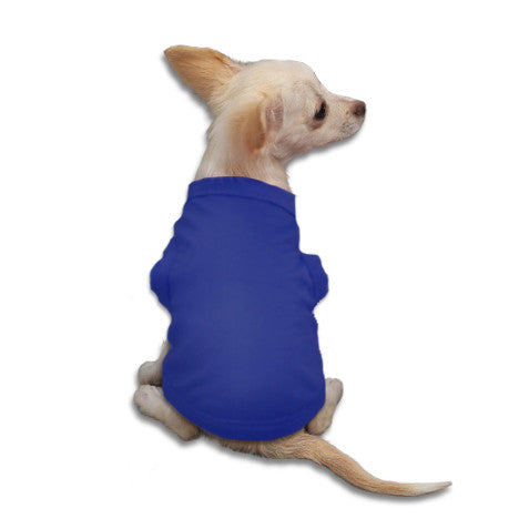 Indigo Tank Style Dog T-Shirt, , Tee, Small Dog Mall, Small Dog Mall - Good things for little dogs.  - 1