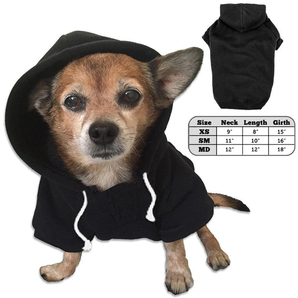 Black Small Dog Sweatshirt Hoodie
