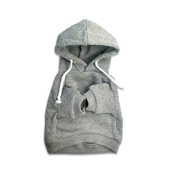 Grey Dog Sweatshirt Hoodie, , Sweaters, Small Dog Mall, Small Dog Mall - Good things for little dogs.  - 1