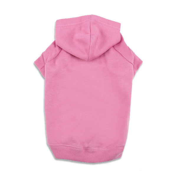 Pink Dog Sweatshirt Hoodie, , Sweaters, Small Dog Mall, Small Dog Mall - Good things for little dogs.  - 1