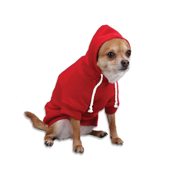 Red Sweatshirt Dog Hoodie, , Sweaters, Small Dog Mall, Small Dog Mall - Good things for little dogs.  - 1