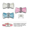 Enamel & Cyrstal Bow Dog Collar Slide, , Slide, Small Dog Mall, Small Dog Mall - Good things for little dogs.  - 2
