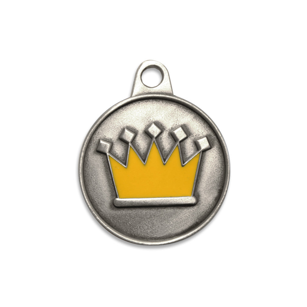 Enamel Crown Dog ID Tag, , ID Tag, Small Dog Mall, Small Dog Mall - Good things for little dogs.  - 1