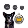 Enamel Crown Dog ID Tag, , ID Tag, Small Dog Mall, Small Dog Mall - Good things for little dogs.  - 2