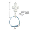 Fleur De Lis Dog Gear Hook, , People Pleasers, Small Dog Mall, Small Dog Mall - Good things for little dogs.  - 2