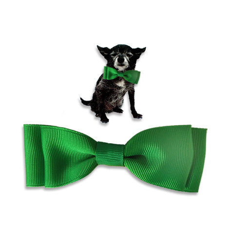 Lucky Green Dog Bow Tie, , Collar, Small Dog Mall, Small Dog Mall - Good things for little dogs.  - 1