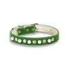 Jeweled Green Velvet Dog Collar, , Christmas, Small Dog Mall, Small Dog Mall - Good things for little dogs.