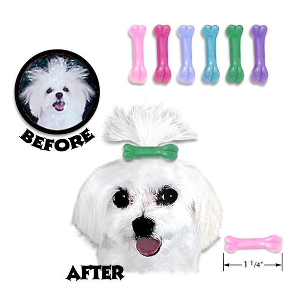 Bone Barrettes for Small Dogs