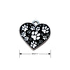 Black & White Heart & Paw Design Dog ID Tag, , ID Tag, Small Dog Mall, Small Dog Mall - Good things for little dogs.  - 2