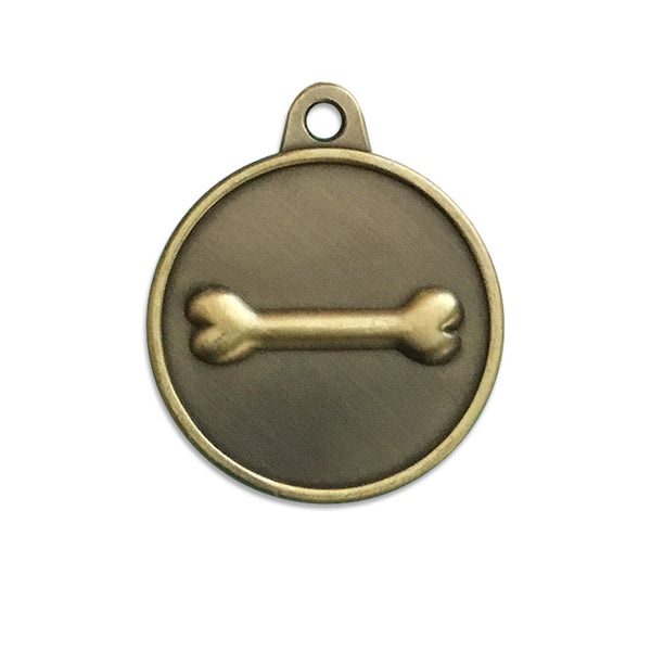 Bronze Bone ID Tag for Small Dogs