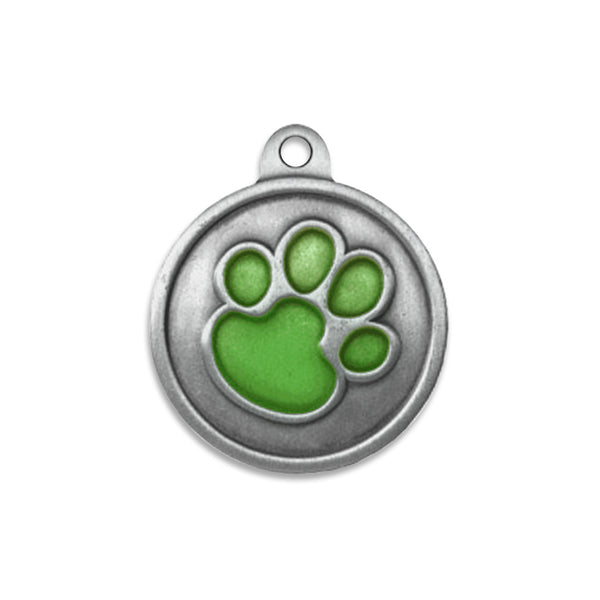 Glows-In-The-Dark Paw Small Dog ID Tag