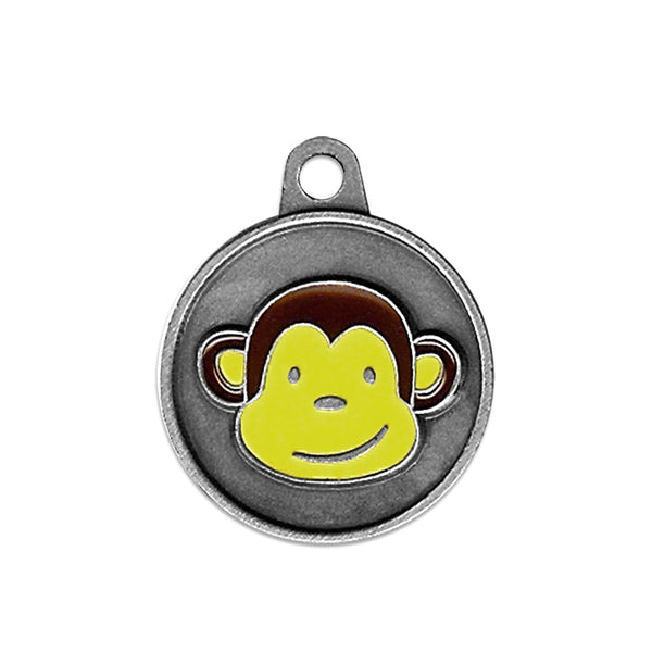 Enameled Monkey Dog ID Tag