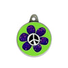 Flower Child Dog ID Tag, , ID Tag, Small Dog Mall, Small Dog Mall - Good things for little dogs.  - 1