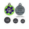 Flower Child Dog ID Tag, , ID Tag, Small Dog Mall, Small Dog Mall - Good things for little dogs.  - 2