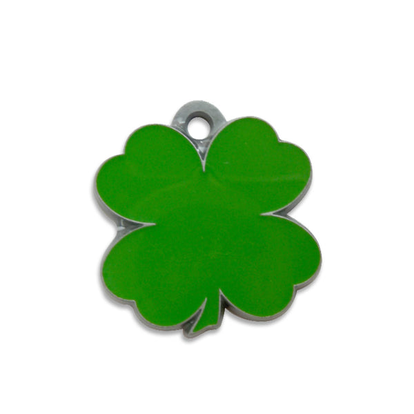 Cutout Shamrock Shape Dog ID Tag, , ID Tag, Small Dog Mall, Small Dog Mall - Good things for little dogs.  - 1