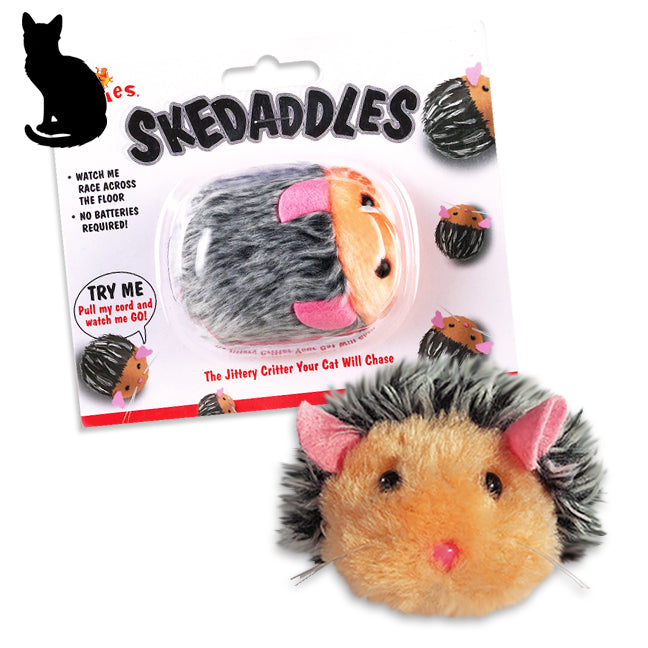 Action Packed Skedaddles Hedgehog Cat Toy
