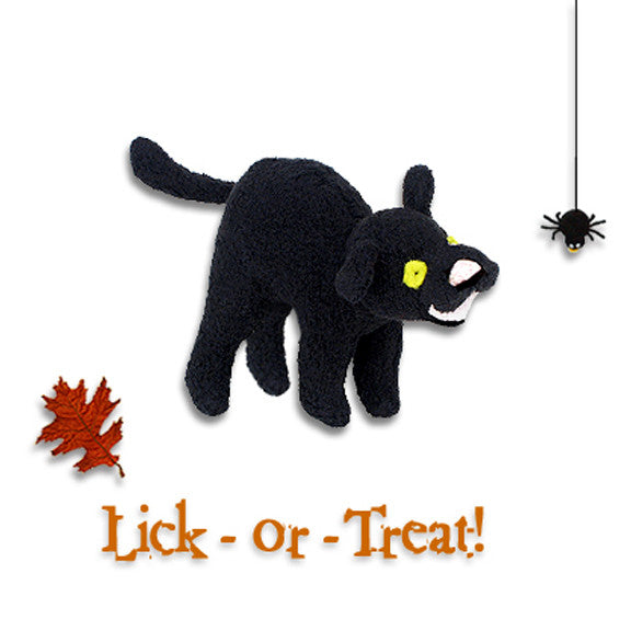 Itty Bitty Black Kitty Small Dog Toy